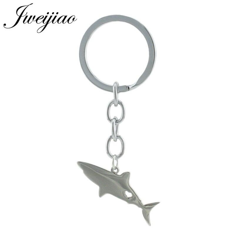 JWEIJIAO Акула глубоководная рыба брелки брелок и брелок держатель из нержавеющей стали подарок для детей сумка животное кулон SKU47