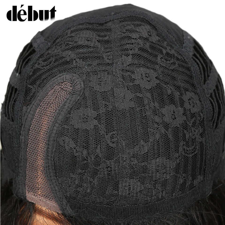 Debut Remy бразильские кружевные натуральные волосы парики тупой крой шелковистые прямые BOBO натуральные волосы парики TT1B/27 Омбре цвет парики для черных женщин