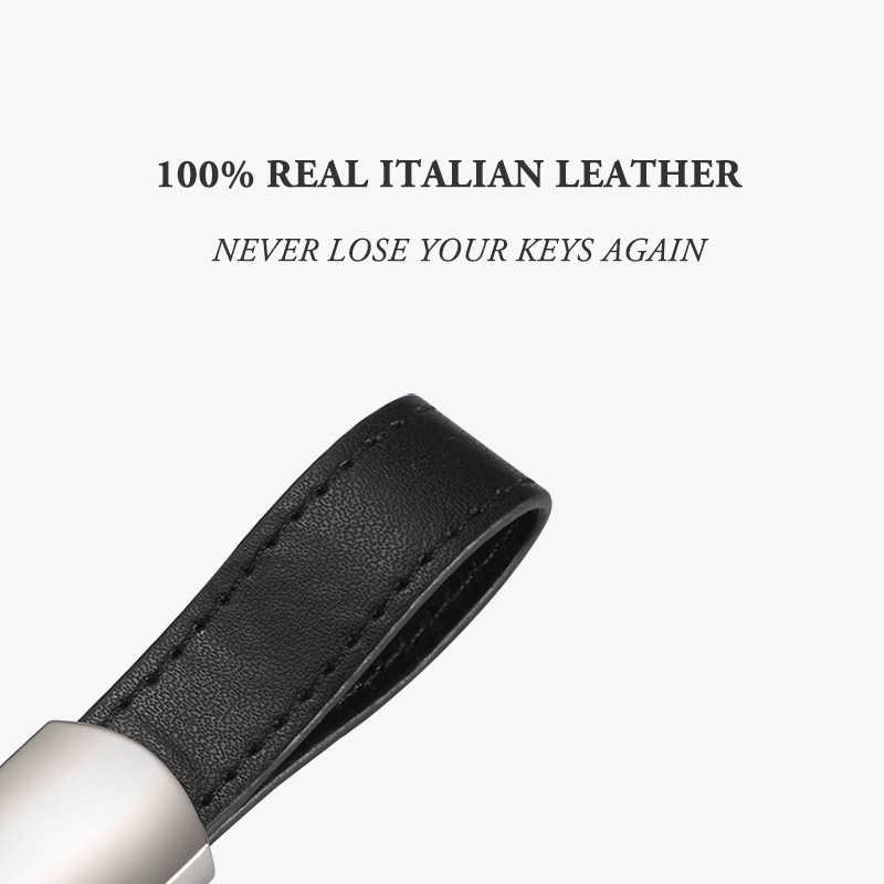Tasche Schlüssel Veranstalter 100% Echt Italian Leder Smart Haus Metall Schlüssel Fall Auto Schlüssel Halter für Kompakte Schlüssel Organisation Geschenke