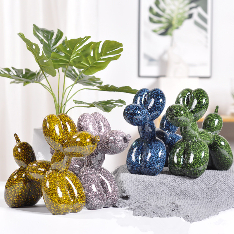 Resin Craft Balloon Dog Statue Ornaments Home Decoration Accessories Modern Abstract Resin Balloon Dog Statue Sculpture