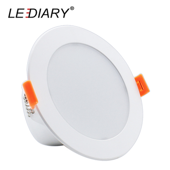 LEDIARY Intelligent LED Downlights Radar Sensor 75mm Cut Hole 110-220V 5W 7W 9W Recessed Ceiling Lamp For Garage Corridor Toilet