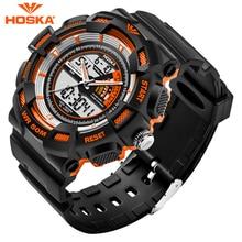 Hombres de la marca de relojes deportivos estudiante reloj de Cuarzo digital de Doble pantalla digital-reloj LED digital reloj de los hombres a prueba de agua