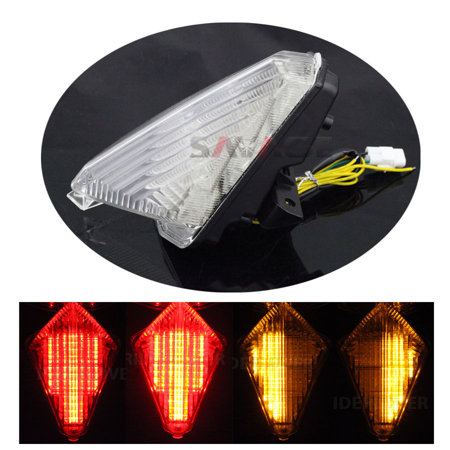 ФОТО For YAMAHA TMAX T-MAX 530 2012 2013 2014 2015 Motorcycle Integrated LED Tail Light Turn signal Blinker Lamp Clear