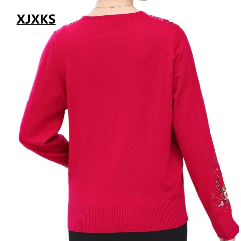 gris Perles La Broderie rouge Taille Xjxks Tan 2019 Chandails light bleu Plus Femmes Sexy Noir Fleurs Et Confortable cou V rose Red Jumper Pulls x7vxzUq
