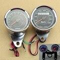 Motorcycle Universal Odometer & Tachometer Speedometer Gauge Set + Black Bracket