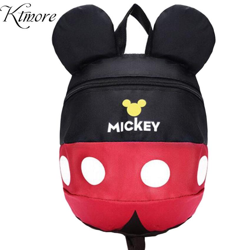 Cartoon Style School Bag Cute Minnie And Mickey Drawstring Backpack Children Schoolbags For Girls Kindergarten Bag