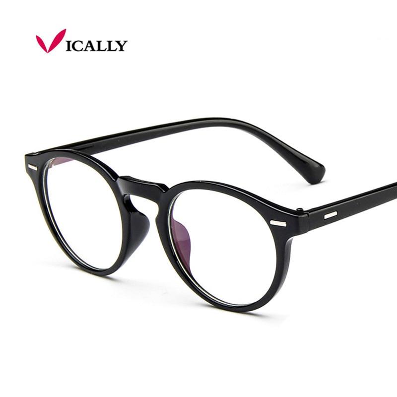 2018 Vintage Retro Round Brilles Brilles Dizainers Sievietēm Brilles Modes Vīrieši Optiskie acu brilles Frame Eyewear