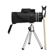 Discount! Universal 12×50 Zoom Telescope Monocular Optical Phone Camera Lens + Tripod + Clip On For iPhone for Samsung Xiaomi Mobile Phone