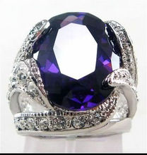 Free shipping Jewelry men/lady's white filled ring silver watch wholesale Quartz stone CZ crystal