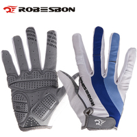 ROBESBON white long Finger Knight Bicycle Gloves Gel Colorful Mittens Guantes Ciclismo Sport Training Luva Bike Cycling Gloves