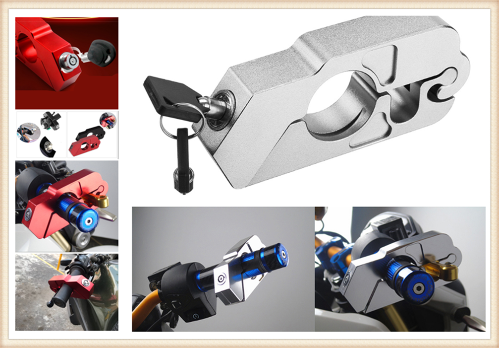 Motorcycle ATV Aluminum Alloy Anti-theft Security Lock Handle Brake For HONDA CBR1100XX BLACKBIRD ST1300 ST1300A VFR800 CBR125R