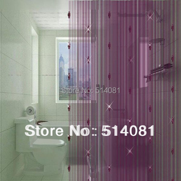 100*200cm Dark Purple sparkle beaded string door window <font><b>curtain</b></font>