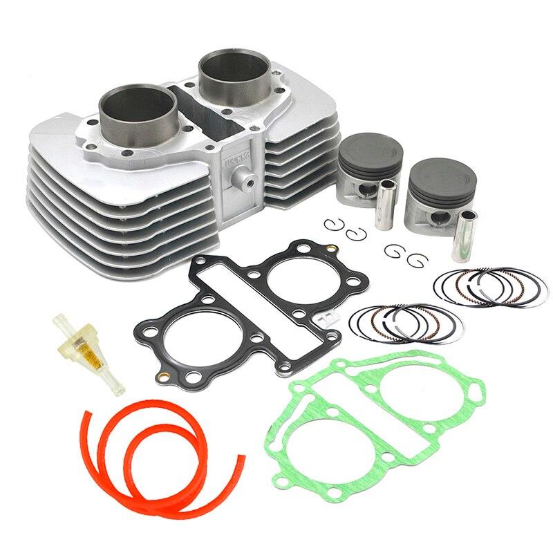 Moto alésage 53mm cylindre segments de Piston joint filtre à carburant Tube pour Honda CA250 CMX250 1996-2011 CMX250C rebelle 250 1996-2015