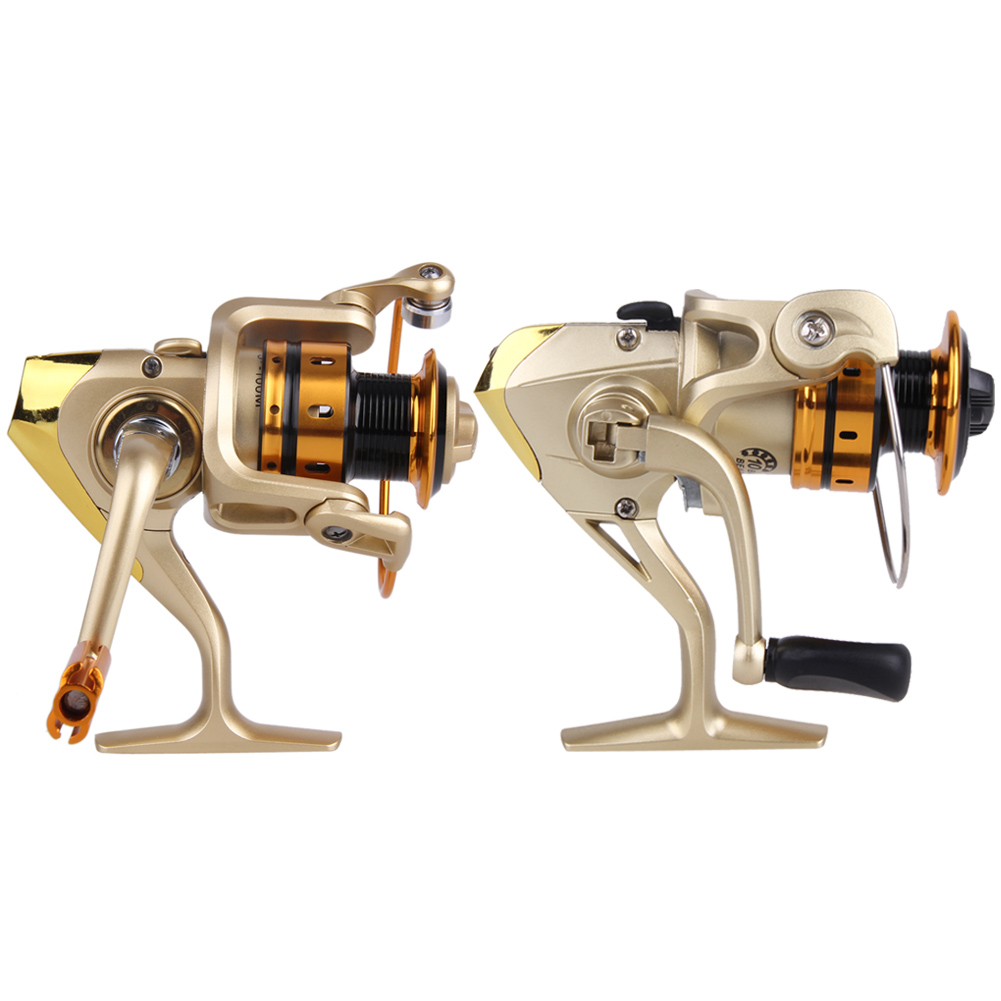 Metal 10BB Ball Fishing Reel Bearing Saltwater Freshwater Left Right Hand Exchangeable Spinning Reel 5.5:1 EF1000-7000 ball bearing professional long distance casting spinning fishing reel surfcasting reel left right spinning reel