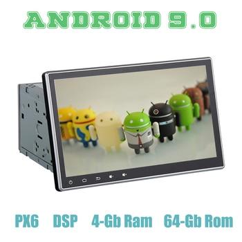N1280 Navirider coche radio 6Core Rockchip PX6 sistema Android 8,1  navegación GPS 100 ° de rotación