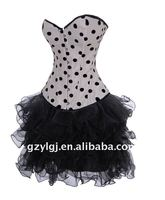 Wholesale Ladies Sexy Lingerie Burlesque corset and skrit sets White Fancy dress Outfit Hot AM2763