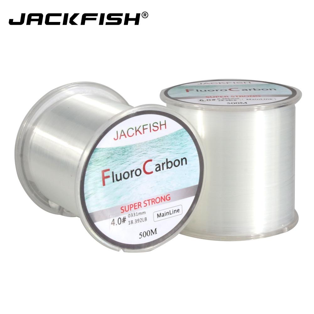 Jackfish 500m Fluorocarbon Fishing Line 5-30lb Super Strong Brand Main Line