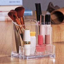 1PC Acrylic transparent Makeup Organizer Storage Boxes Make Up For Cosmetics Brush Home Jewelry Box Sets