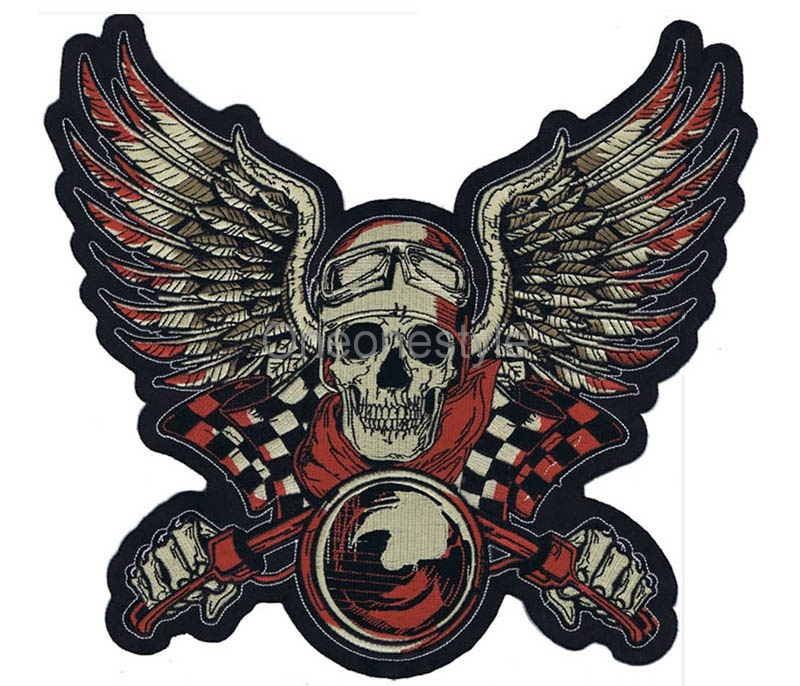 Custom your own Motorcycle Biker Patches Iron on/Sew on Embroidered Patches for Jacket Clothing - 3
