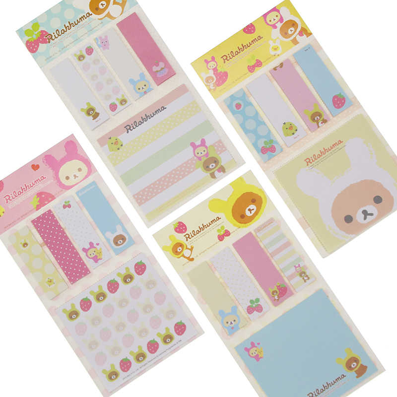 Kawarii Cartoon Rilakkuma Memo Notepad Note Book Memo Pad Sticky Notes Memo Set Gift Stationery Kcs
