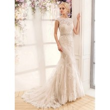 New Arrival Ivory Lace Mermaid Wedding Dress Sexy Backless Cap Sleeve Beaded Waist Court Train Bridal Gown With Bow trouwjurk city studio new ivory illusion beaded women s 1 junior empire waist dress $189