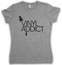 """Vinyl Addict"" women's t-shirt / girlie"