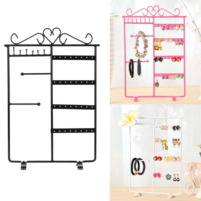 2019 Jewelry Display Storage Hanging Holder Earring Necklace Studs Jewelry Display Rack Metal Stand Organizer Holder Promotion