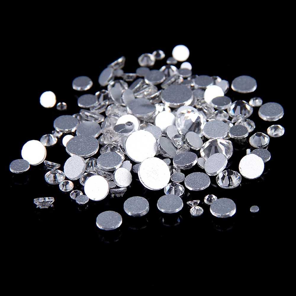 Супер предложение, светящееся стразы, 1440 шт. SS3 до SS10, не горячая фиксация, горный хрусталь, прозрачный кристалл, 3D, украшение для ногтей, задняя сторона плоская, горный хрусталь