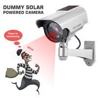 Fake Camera Model Fake Monitoring Indoor Outdoor Solar And Battery Powered LED Flashing Virtual Security CCTV