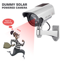Fake Camera Model Fake Monitoring Indoor Outdoor Solar And Battery Powered LED Flashing Virtual Security CCTV