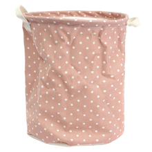 Linen Sorter Bag Washing Laundry Hamper Toys Clothes Big Storage Basket Pattern:green Dot