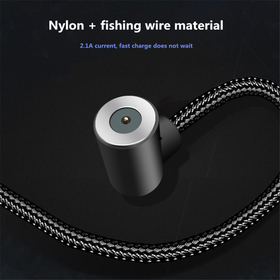 NOHON Elbow Magnetic Fast Charge Cable Lighting Micro USB Type C For iPhone X 7 8 Samsung Universal Phone Magnet Charging Cables (5)