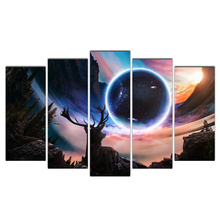 5 Pieces HD Canvas Painting deer and star background Paintings Modern Wall Art Pictures Framed Free Shipping Cairnsi