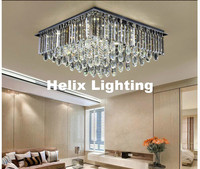 Indoor Lamp Modern LED Crystal Ceiling Light Fixture Smokey/Clear LED Ceiling Light Lighting Lamp Flush Mount AC Guaranteed 100%