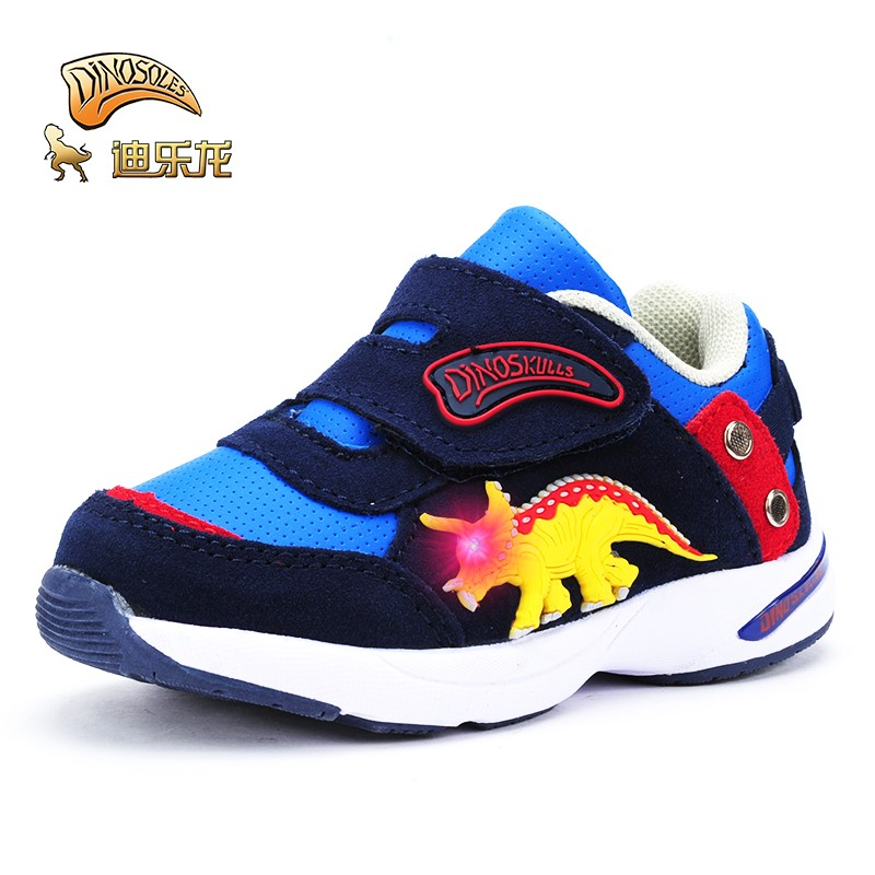 DINOSKULLS Dinosaur shoes baby shoes Spring Autumn breathable Boys girl LED fashion kids glowing shoes anti-slip cartoon 22-26DINOSKULLS Dinosaur shoes baby shoes Spring Autumn breathable Boys girl LED fashion kids glowing shoes anti-slip cartoon 22-26