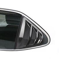 Para toyota camry xv70 2018 2019 abs plástico janela traseira triângulo persianas capa guarnição 2 peças/set acessórios do carro
