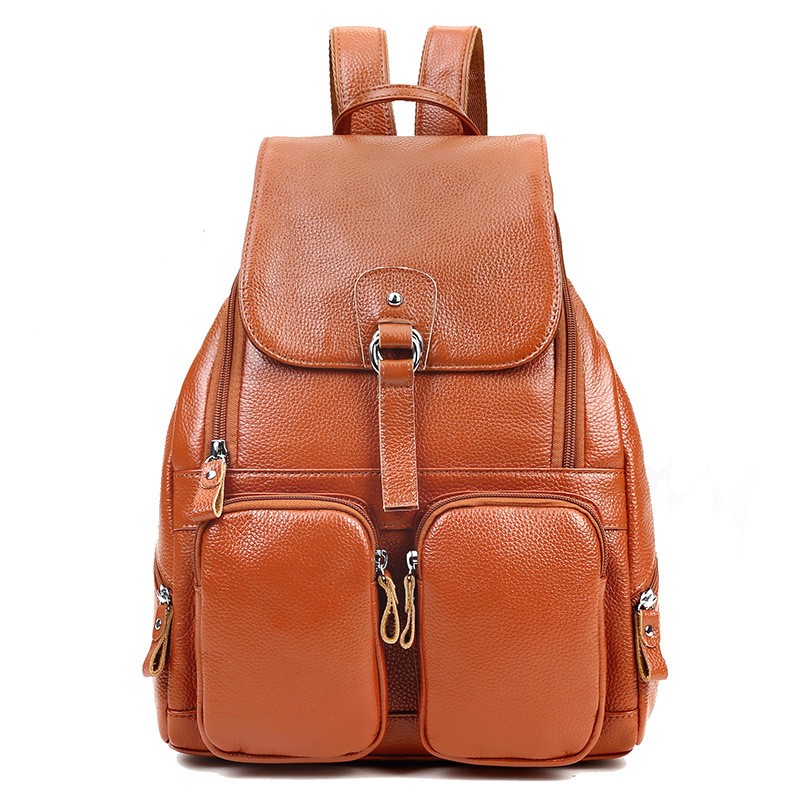 ᗚGenuine Leather backpack,women's • retro retro Shoulder ...