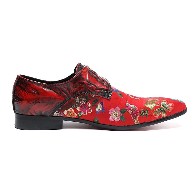 Masculins Vintage En Mocassins Hommes Club Sur Parti Rouge De Plus Sl32 Slip Taille Homme Pointu Bout Moine Chaussures Cuir La Piste Sangle Véritable Pour qtp7z