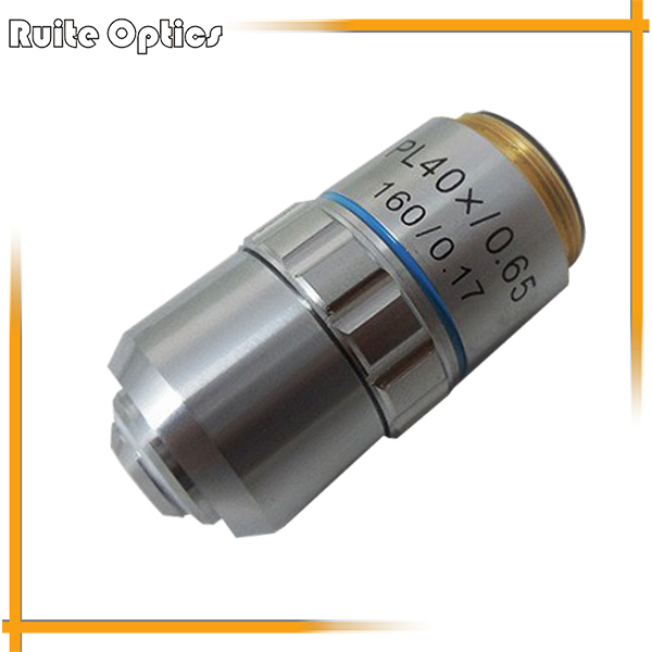 цены PL40X 195 Plan Achromatic High-grade Microscope Objective Lens for Biological Metallurgical Microscopy