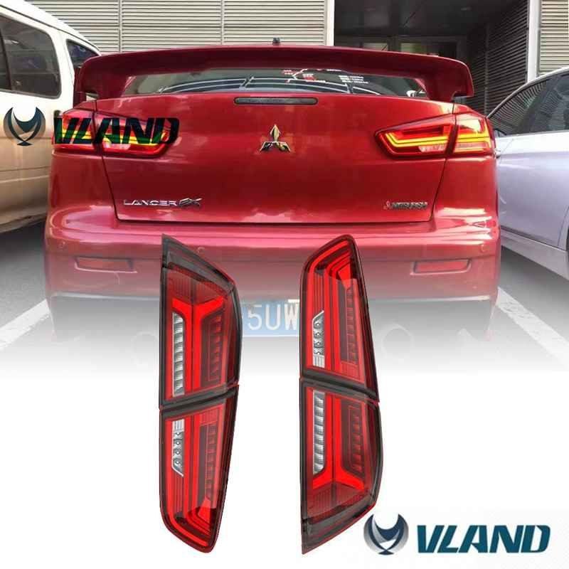 Free shipping China VLAND car led tail lamp for Mitsubishi Lancer EX all-LED taillight for Evolution taillight for 2008-2015