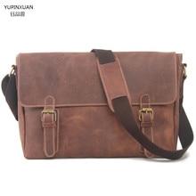 YUPINXUAN Men Genuine Leather Shoulder Bag Handbag Lawyer Briefcase Leather Briefcase Vintage Laptop Bags Maletin Hombre Chile