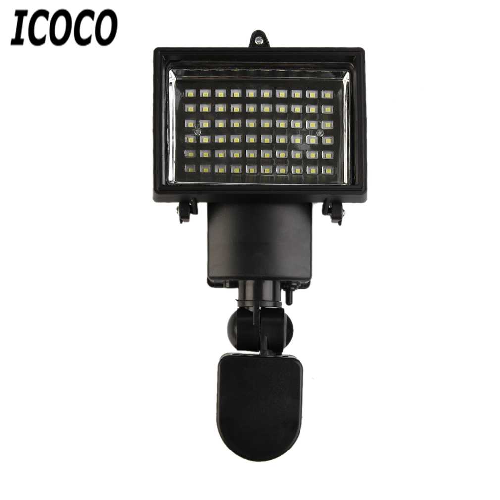 Outdoor Security Lights Pir: ICOCO 60 Led Solar Light Sensor Security Garden Light PIR