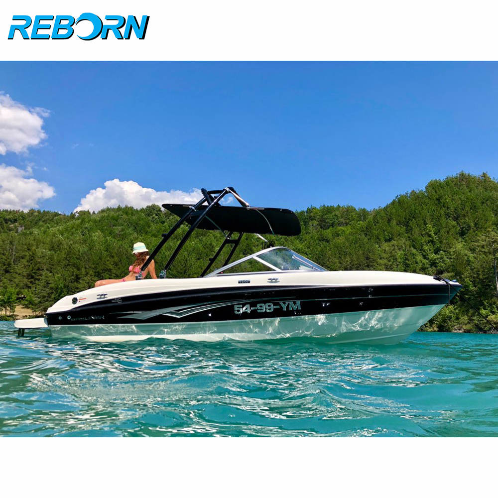 Reborn Launch Wakeboard Tower Glossy Black/ Boat Forward-facing Tower