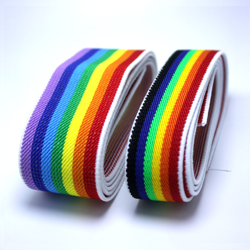 New Style Beautiful Stripes High Quality Durable Pants Skirt Belt Sewing Clothing Accessories  Elastic Band Rubber Color Belt