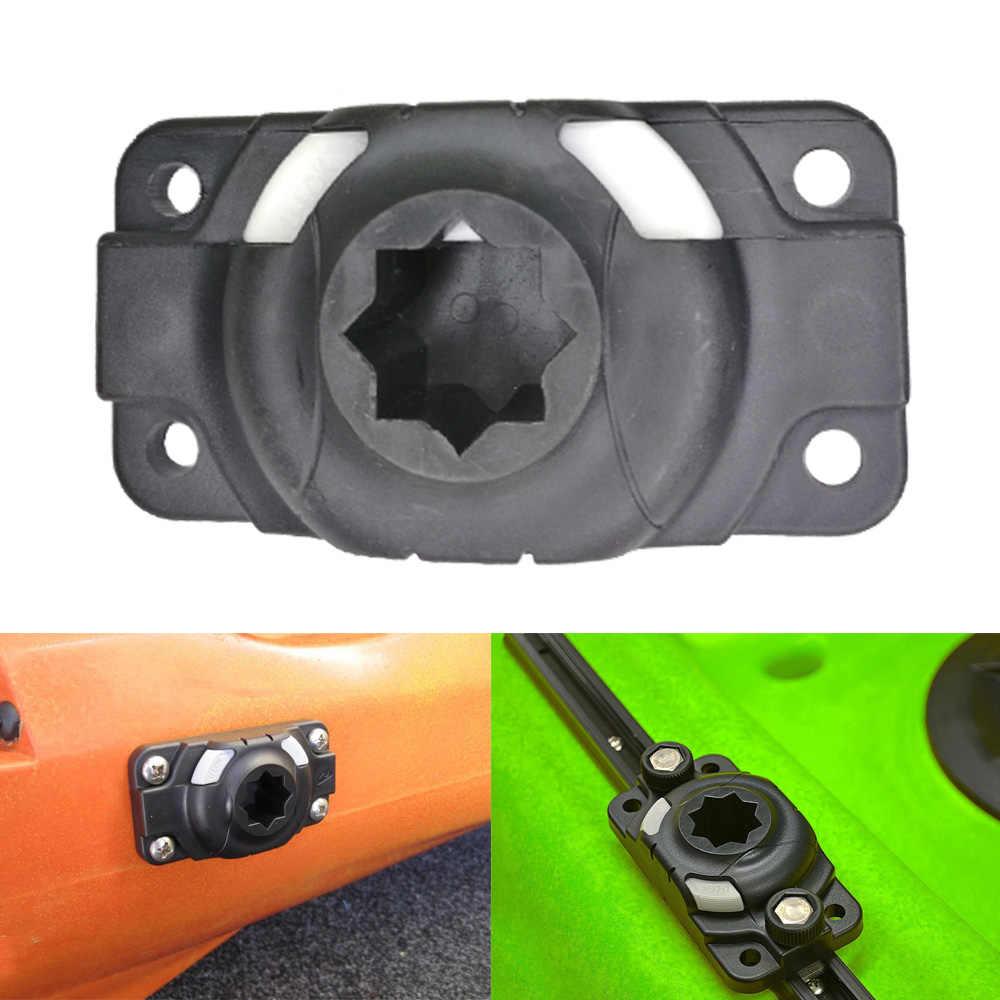 2 piezas de soporte de caña de Kayak inflable Base de montaje canoa carril de deslizamiento Kayak caña de pescar accesorios sin tornillos