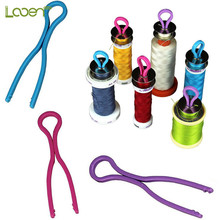 12 Pcs/lot Bulk Bobbin Clamps Mix Colors Keep Your Threads Matched Up with Thread Bobbins Spools Sewing Tools