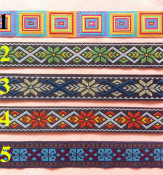 25mm single face geometric style jacquard webbing,5 colors available,XERY-HF160515A