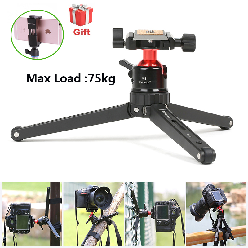 Ulanzi Marsace Foldable Solid Aluminum Alloy Mini Tripod MT 01 with Tripod Head for Canon Nikon