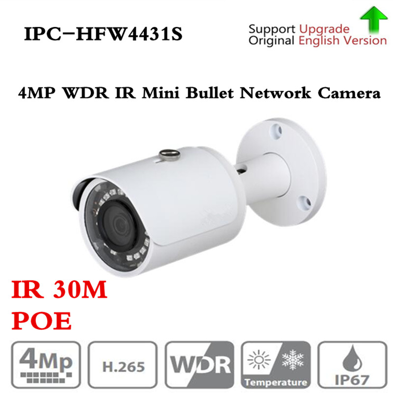 Original English Version 4MP WDR Network Small IR Bullet Camera IP67 without Logo IPC-HFW4421S upgrade IPC-HFW4431S Free shippin loz pirates of the caribbean jack salazar mini blocks brick heads figure toy assemblage toys offical authorized distributer