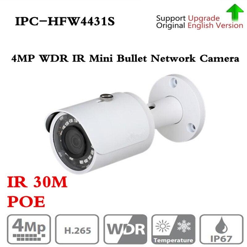 Version originale Anglaise 4MP WDR Réseau Petit IR Bullet Caméra IP67 sans Logo IPC-HFW4421S mise à niveau IPC-HFW4431S Livraison shippin